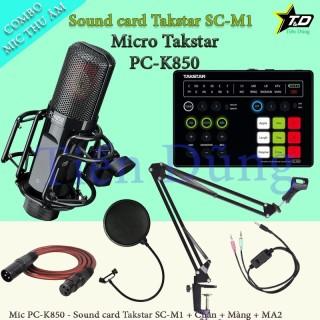 Bộ mic thu âm cao cấp Takstar PC K850 đi sound card SC M1 chân màng dây livestream MA2 thumbnail