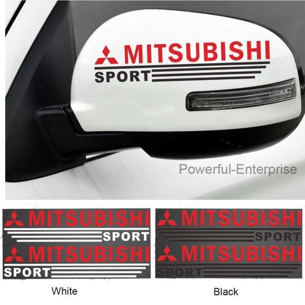 Bộ 2 Decal dán gương chiếu hậu cho ô tô (Mitsubishi) - Tem dán gương chiếu hậu