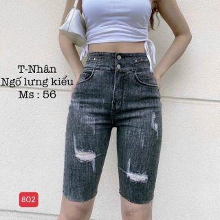 Quần Bò Ngố Nữ, Quần Jean Lửng, Quần Jean ngố Nữ Cao Cấp, Co giãn mạnh,rách, xước thời trang M.U_Shop. Ms802 thumbnail
