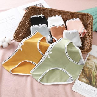 Quần lót cotton phong cách hàn quốc dễ thương phối nơ cao cấp (B02) 1