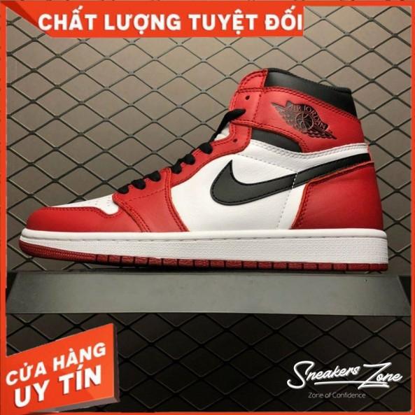 (FREESHIP+HỘP+QUÀ) Giày Thể Thao AIR JORDAN 1 Retro High Chicago đỏ Trắng Cao Cổ Cực Phong Cách giá rẻ