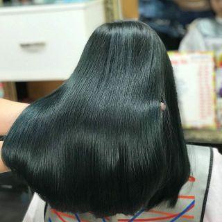 Thuốc nhuộm màu Đen Ánh Matcha (không tẩy tóc) (kèm trợ nhuộm và găng tay) thumbnail