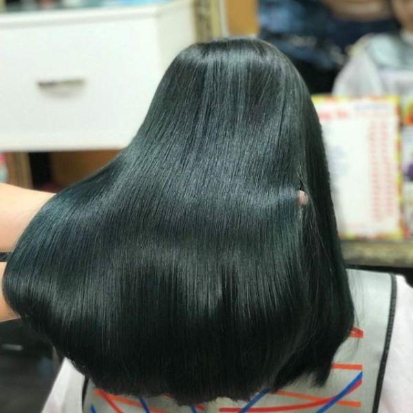 Thuốc nhuộm màu Đen Ánh Matcha (không tẩy tóc) (kèm trợ nhuộm và găng tay)