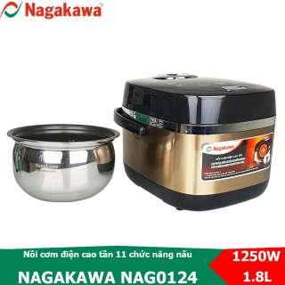 Nồi cơm điện cao tần 1.8L Nagakawa NAG0124 với 14 chức năng nấu và giữ ấm cơm
