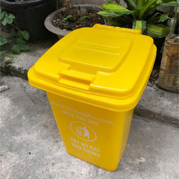 Thùng rác nhựa 30 lít - Màu Vàng