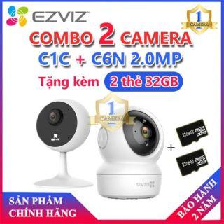 [EZVIZ CHÍNH HÃNG] Combo Camera C1C Độ Phân Giải 2.0MP + C6N Độ Phân Giải 2.0MP tặng kèm 2 thẻ nhớ 32GB thumbnail