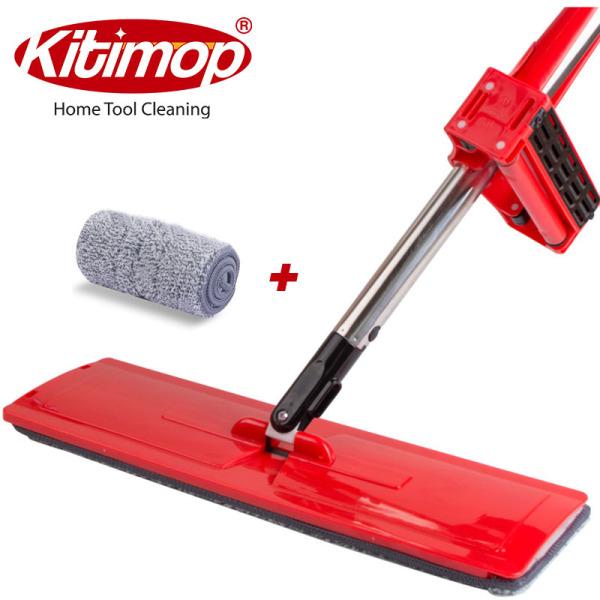 Cây lau nhà Kitimop-Red thông minh tự vắt xoay 360 độ, bảo hành 12 tháng + 1 giẻ sơ cua