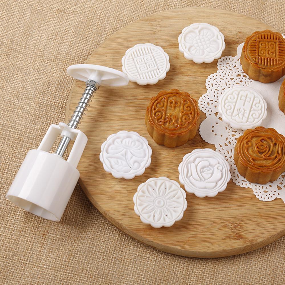 Khuôn làm bánh 90 - 120gr hình TRÒN / VUÔNG (4 khuôn 4 x 6cm) làm bánh dẻo bánh nướng xôi oản