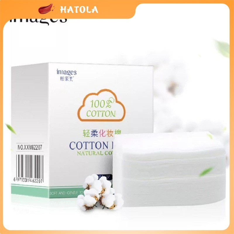 HATOLA - Bông Tẩy Trang Images Hộp 100 Miếng 100  Cotton siêu tiện lợi HTL-BTT 100M 01 cao cấp