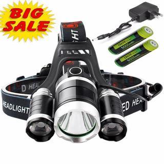 Đèn led sử dụng công nghệ SMD mới nhất,Đèn Pin Đội Đầu Siêu Sáng,shop đèn pin siêu sáng,Đèn đeo đầu 3 bóng Công nghệ LED XML Cree T6 Cực HOT hiện nay,Thời Lượng Pin 10h. thumbnail