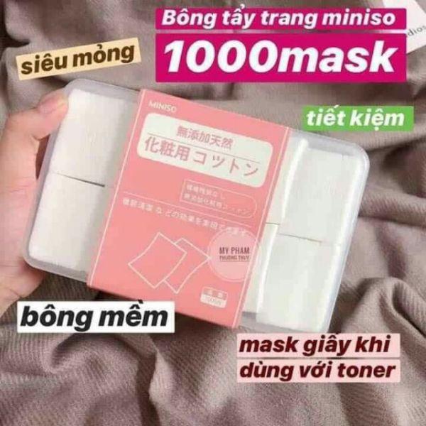 Bông Đắp Toner (tẩy trang) MINISO 1000 Miếng