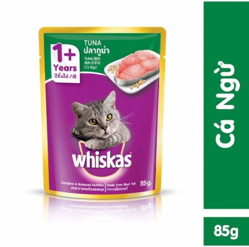 Thức ăn cho mèo Whiskas vị cá ngừ 85g