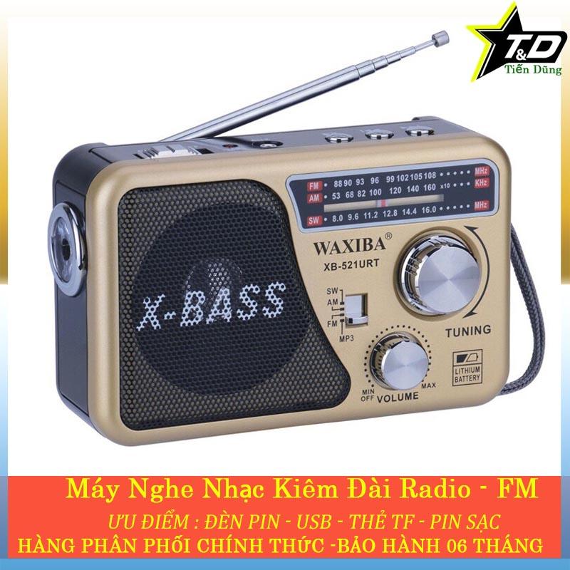 Hot Deal Khi Mua Máy Nghe Nhạc Kiêm đài Radio FM Waxiba XB-521URT- Đài FM 521 Có Hỗ Trợ Thẻ Nhớ TF Và USB Có đèn Pin
