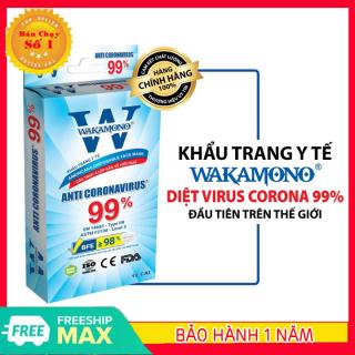 [HÀNG TỐT - GIẢM THÊM 8%] KHẨU TRANG Y TẾ 4 LỚP Hộp 10 cái Khẩu trang WAKAMONO diệt 99% Vius Corona đầu tiên trên thế giới đạt tiêu chuẩn Mỹ (FDA) & Châu Âu (CE) thumbnail