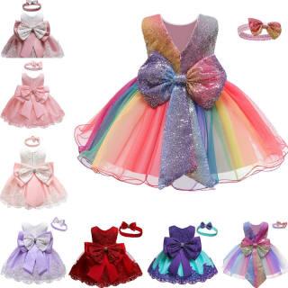 Chân Váy Bé Gái NNJXD Đầm Xòe Sinh Nhật Thêu Ren Hoa Lễ Rửa Tội Cho Bé Gái Wedding Gown Đầm Bé Gái Công Chúa Mới 2021 Cầu Vồng Váy Đầm Cổ Tròn Không Tay Ren Hoa Cho Bé Gái Em Bé 6 Tháng 5 Tuổi Đính Nơ Lớn Nhiều Màu
