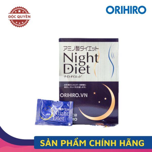 Viên Uống Giảm Cân Night Diet Orihiro Nhật Bản - Hộp 60 gói x 6 viên/hộp