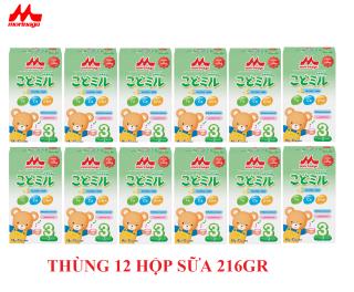Thùng 12 hộp Sữa Morinaga Số 3 Kodomil 216g Cho Bé Từ 3 Tuổi - Hương vani date T8.2021 (không tem đổi quà) thumbnail