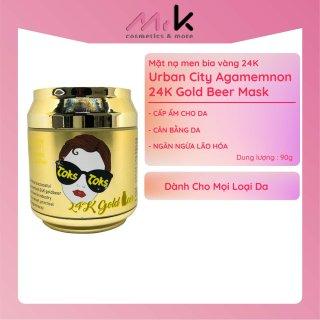 [Xả kho] Mặt nạ men bia vàng 24K Urban City Agamemnon 24K Gold Beer Mask chính hãng Hàn Quốc, cấp ẩm, ngăn ngừa lão hóa 90g thumbnail