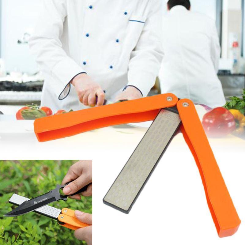 Folding Knife Sharpener Double-sided Grindstone Knives Sharpening Tool