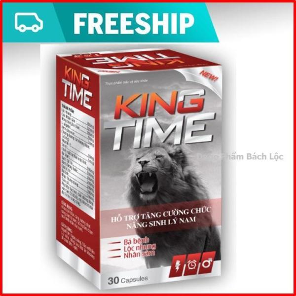 King time - Viên uống tăng cường sinh lý nam, bổ thận, tráng dương- hộp 30 viên có thành phần Lộc nhung, nhân sâm, đông trùng hạ thảo