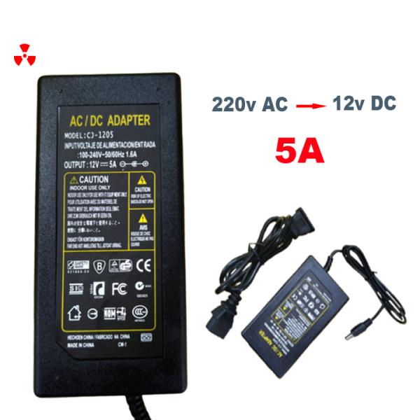 Nguồn 12v DC/5A cao cấp dùng cho quạt, ngoài ra có thể cấp nguồn cho thiết bị Loa, ampli ,camera và nhiều thiết bị khác dùng nguồn 12v (  hỗ trợ phí ship + trợ giá mua 2 sản phẩm )