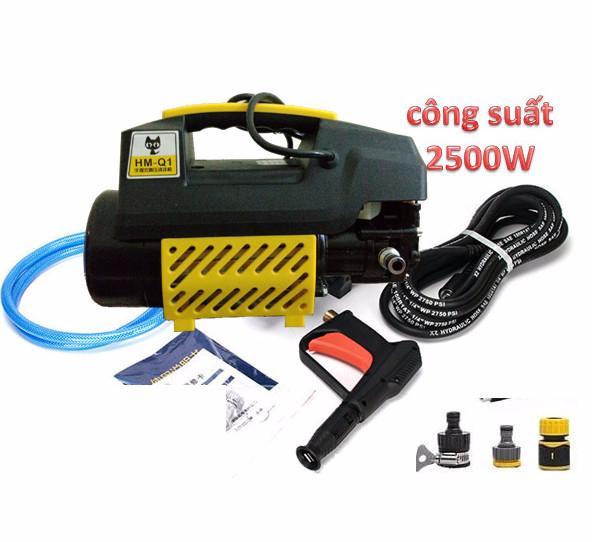 Máy rửa xe áp lực cao 2501w, máy rửa xe mini, máy rửa xe gia đình, máy rửa xe giá rẻ, máy rửa xe o to 2501w