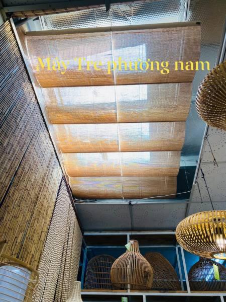 com bo2 m dài  mành tăm trang trí làm trần nhà làm khăn trải bàn khổ 60cm