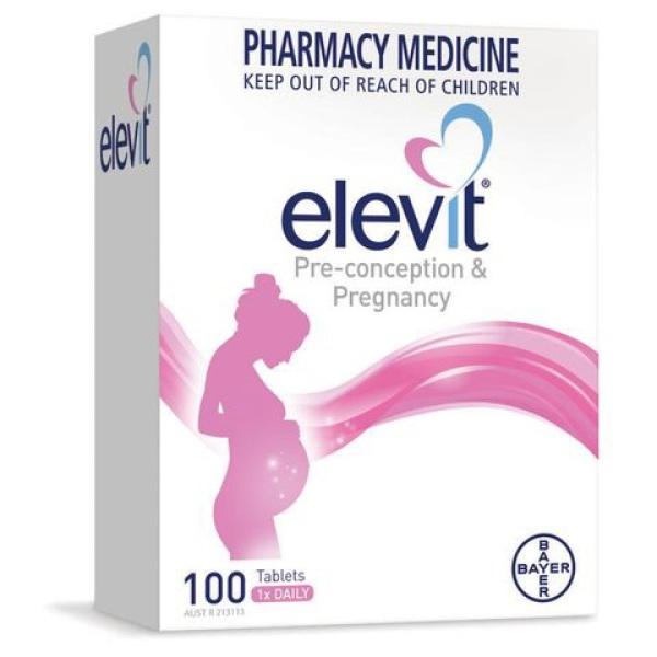 Vitamin Tổng Hợp Elevit Bà Bầu (100 viên) nhập khẩu