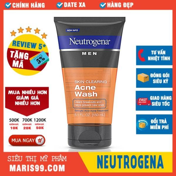 Sữa rửa mặt cho nam Neutrogena Men Skin Clearing Acne Wash cao cấp