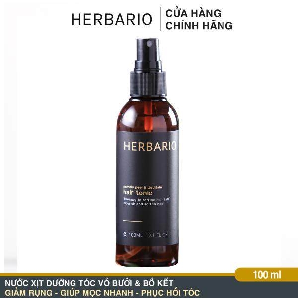 Nước dưỡng tóc Vỏ Bưởi và Bồ Kết Herbario 100ml pomelo tinh dầu vỏ bưởi giảm rụng tóc, nuôi dưỡng tóc từ sâu bên trong, cung cấp dưỡng chất giúp tóc chắc khỏe và làm mềm tóc
