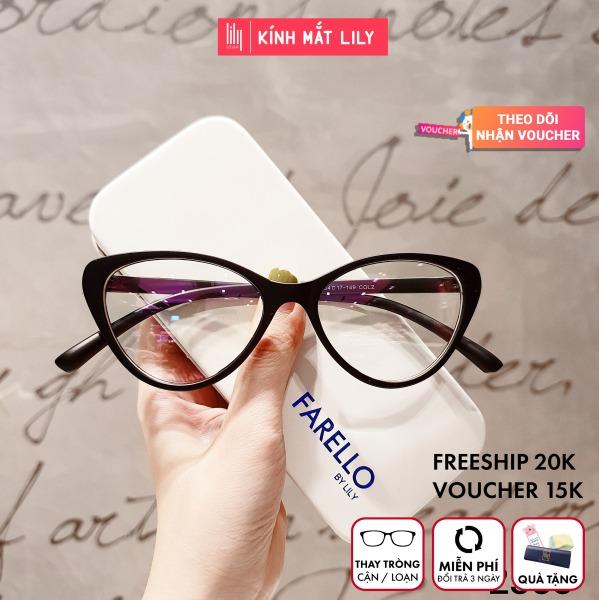 Giá bán Kính Cận Gọng Dẻo Hàn Quốc 2383--Kính Gọng Dẻo-Gọng Kính Cận-Kính Cận Unisex-Gọng Kính Cận Đẹp-Lily Eyewear kèm quà tặng