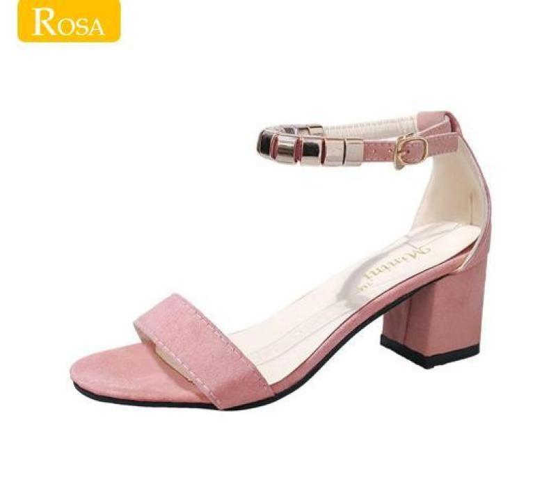 Giày cao gót vuông 5cm bọc mũi bạc vòng cổ hột vuông  CG-0172 giá rẻ