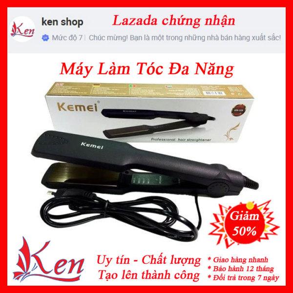 Máy Duỗi Tóc 4 Mức Chỉnh Nhiệt Kemei KM 329 - Máy làm tóc kemei - May lam toc - May duoi toc cao cấp