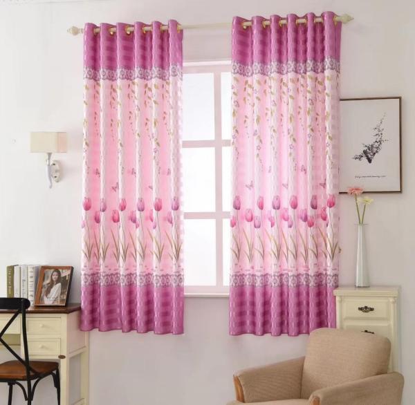 Rèm treo cửa hoa tu líp chiều cao 2m (nhiều kích thước). Rèm vải in một mặt chất liệu đẹp. Rèm bán không kèm thanh treo, phụ kiện gì khác, chỉ may và đục lỗ sẵn.