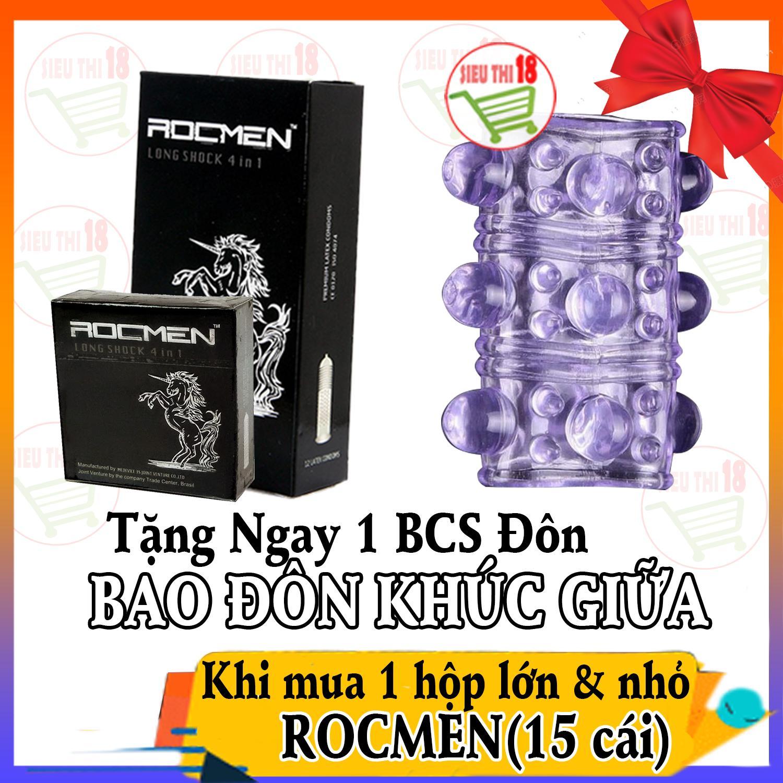 Mua 1 Hộp BCS Lớn & Nhỏ Rocmen 4in1 tặng ngay 1 BCS Đôn giữa - siêuthị18 nhập khẩu