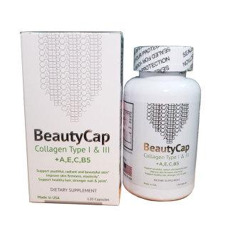 Viên uống dưỡng trắng da chống lão hoá Collagen +A E C B5 Beauty Cap Mỹ thumbnail