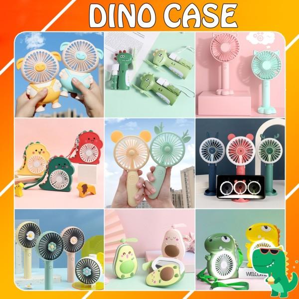 Quạt mini cầm tay chính hãng DianDi Hình thú dễ thương pin sạc,quạt điện cầm tay (Màu Ngẫu Nhiên)
