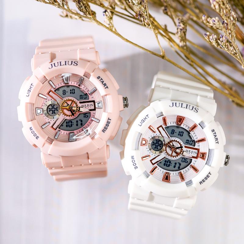 Đồng hồ nữ Julius JA-1276 dây cao su kiểu dáng thể thao