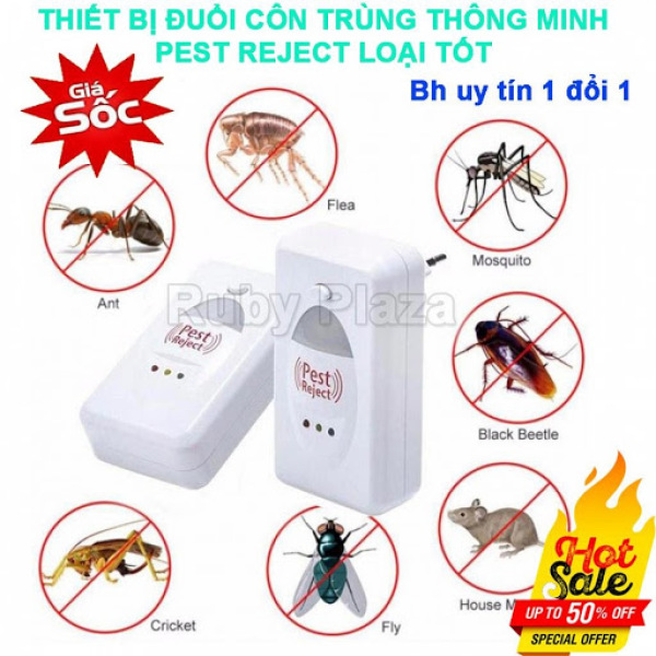 [Mới Về] Máy đuổi côn trùng Pest Reject - Đuổi gián, muỗi, kiến, ruồi, chuột - an toàn và tiết kiệm.