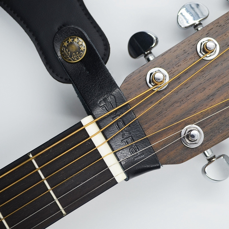 PICKPAL Acoustic Guitar / Electric Guitar Leather Guitar Neck with Guitar Strap Piano Head Lock String Guitar Accessories Malaysia
