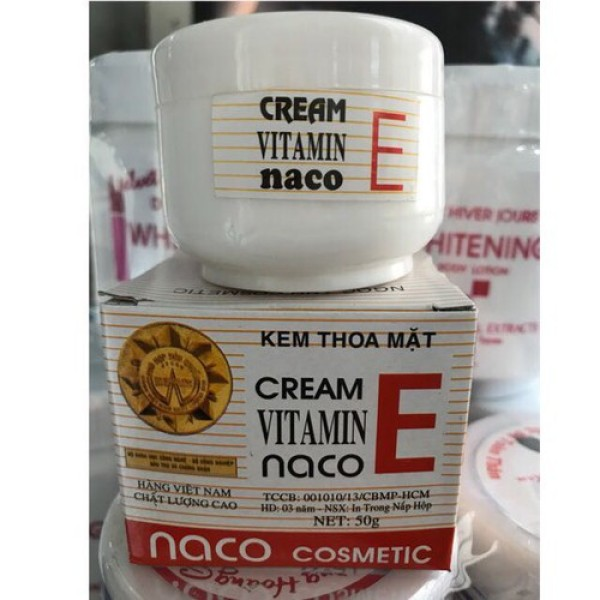 Kem dưỡng trắng Vitamin E Naco - Cô gái 3 mặt