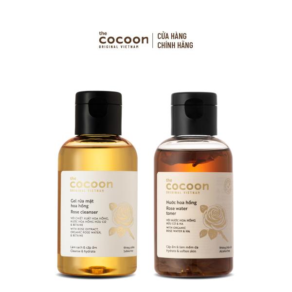 Combo làm sạch, cấp ẩm dịu nhẹ từ hoa hồng Cocoon