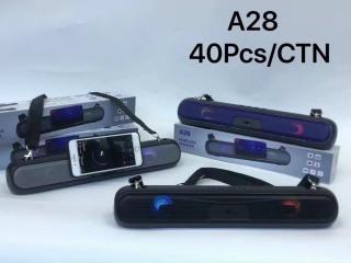 Loa bluetooth speaker A28 dáng dài 2 loa cực đỉnh, kiểu dáng sang trọng hỗ trợ thẻ nhớ, đài FM thumbnail