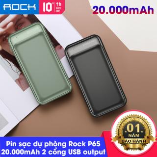 Pin sạc dự phòng Rock P65 Power Bank RMP0416 20000mAh Đèn LED hiển thị dung lượng pin thumbnail