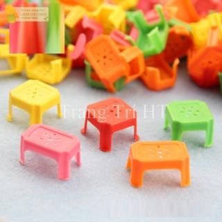 Mô hình ghế nhựa mini phụ kiện trang trí nhà búp bê thumbnail