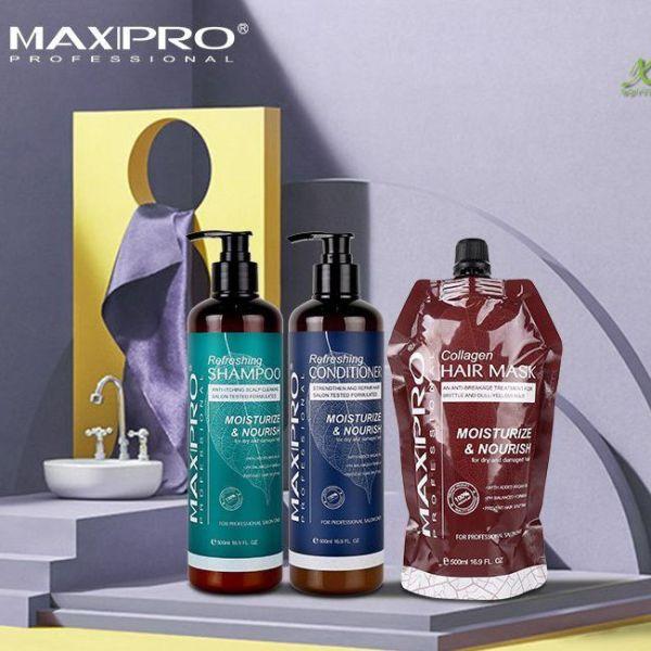 Dầu gội Maxipro dầu xả Maxipro siêu mềm mượt phục hồi ngăn gầu ngứa, hương thơm lâu Cặp 500ml giá rẻ