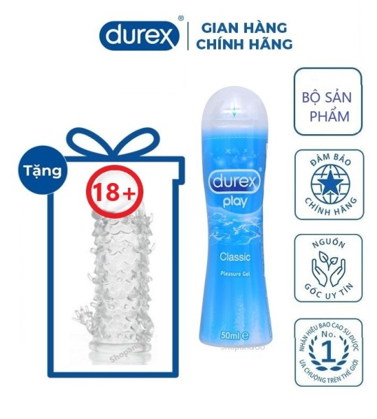 COMBO 1 Gel bôi trơn Durex Play Classic 50ml tặng 1 bao cao su dùng nhiều lần giá rẻ