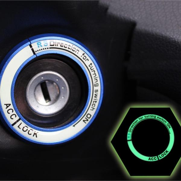 Luminous Ignition Switch Cover Key Switch Decoration Ring For Hyundai Toyota Kia Nissan
