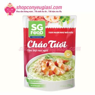 Cháo Tươi SG Food 270gr Nhiều Vị Cho Bé Từ 12m+ - Tôm Thịt Rau Ngót thumbnail