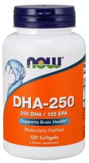 TP Bảo Vệ Sức Khỏe Bổ Sung 250mg Omega-3 (EPA DHA) Giúp Tăng Cường Sức Khỏe Cho Tim Mạch, Não, Mắt, Khớp NOW DHA 250 (250mg DHA, 125mg EPA) (120 Viên nang mềm) thumbnail